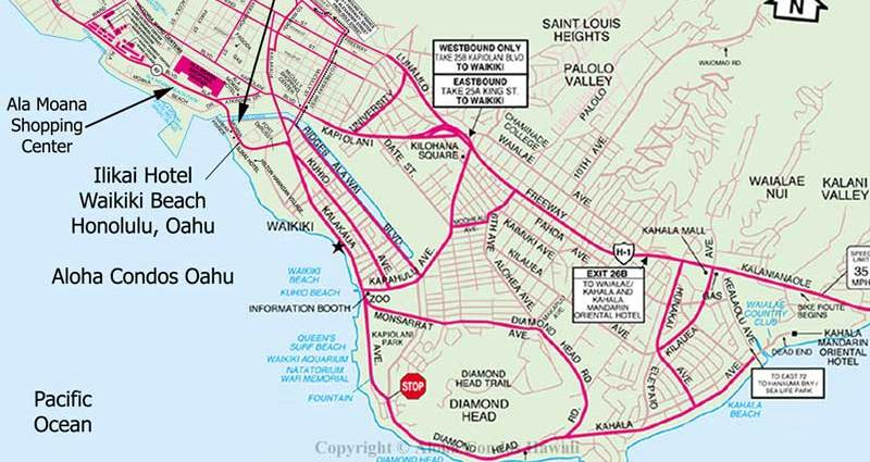 Map Of Hotels On Waikiki Beach Honolulu Beach Hotels – Honolulu Tourist Attractions Map