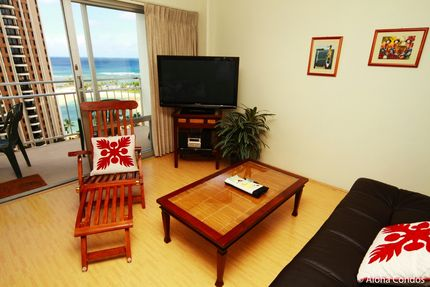 Living Room - Ilikai Hotel, Unit 1424