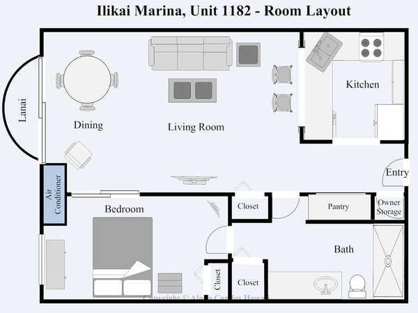 Ilikai marina condo 1182 1 bedroom oceanfront condo for Aloha package homes