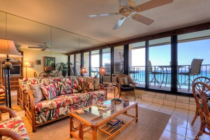 Living Room - Condo 412, Kaleialoha Resort