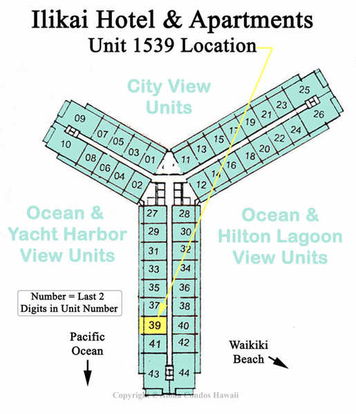 Ilikai Hotel Condo 1639 1 Bedroom Ocean View Condo Oahu