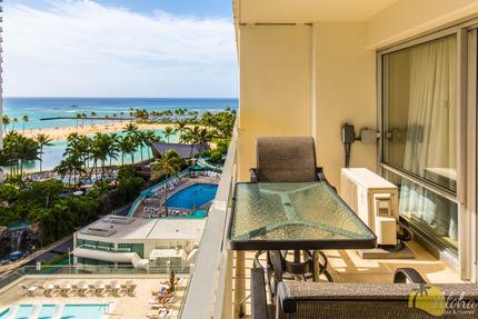 Lanai and View from Condo 828, Ilikai Hotel