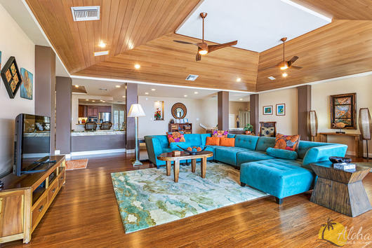 Explore 3D Space Living Room with Ocean View - Home Hale Kona Kona Vacation Homes & Kona Vacation Homes Home Hale Kona − 4 Bedroom Ocean View Condo ...