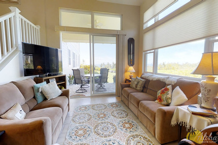 Living Room, Lanai and View - Townhome M 6, Na Hale O Keauhou